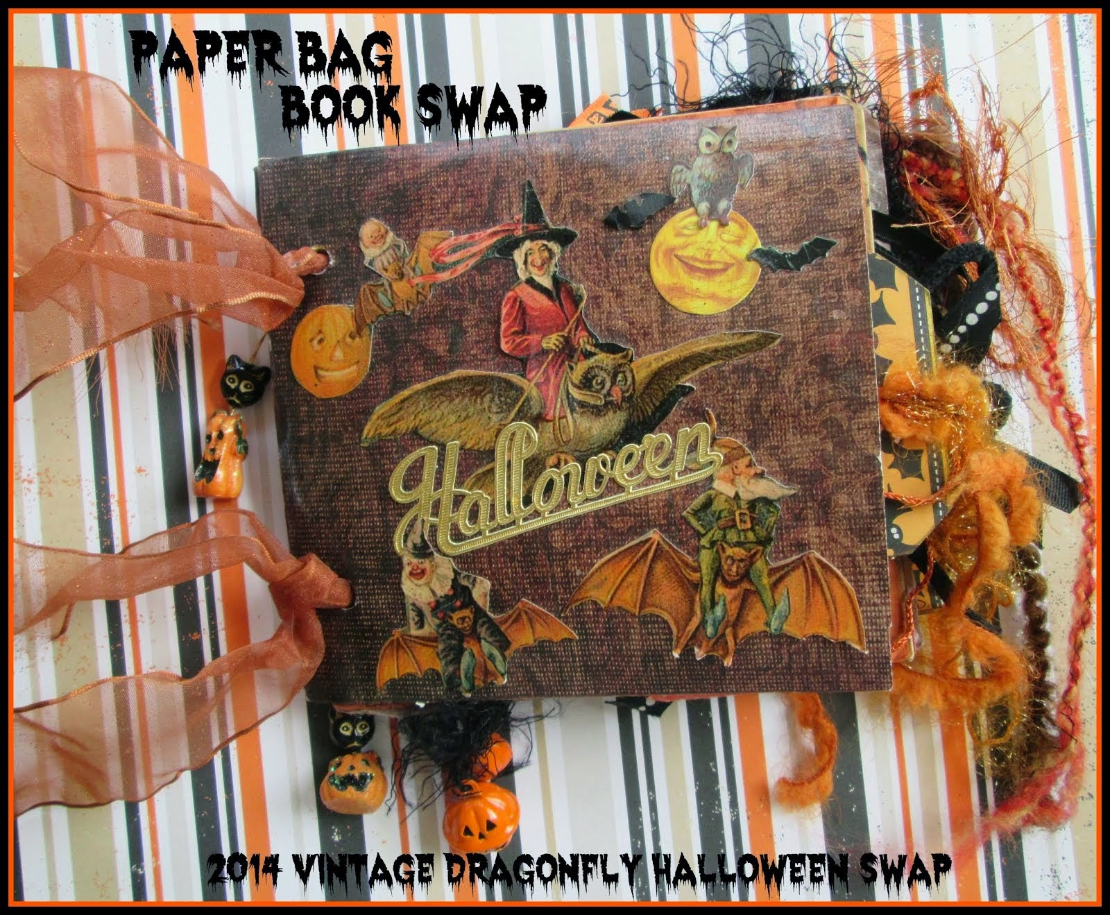 2014 Vintage Dragonfly's Halloween Paper Bag Book Swap