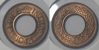 george vi 1943 one pice hole high crown