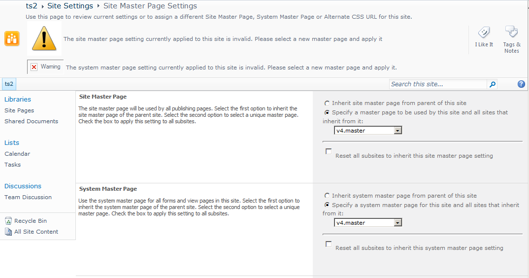 Sharepoint 2010 branding invalid site master page in non for Sharepoint 2010 branding templates