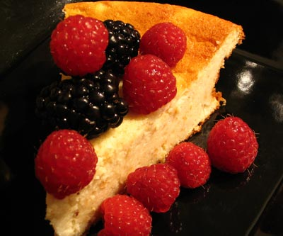 Goat Cheese Cheesecake with Mixed Berries