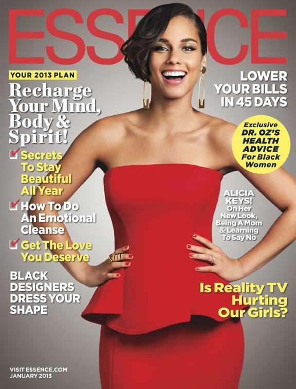 MAGAZINE SCOOP: ALICIA KEYS FOR ESSENCE JANUARY 2013 ISSUE