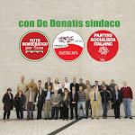 Candidati delle tre liste che sostengono Roberto De Donatis a sindaco di Sora