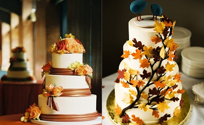 Unique wedding ideas: \'Fall Wedding Cake\' Ideas for Incorporating ...