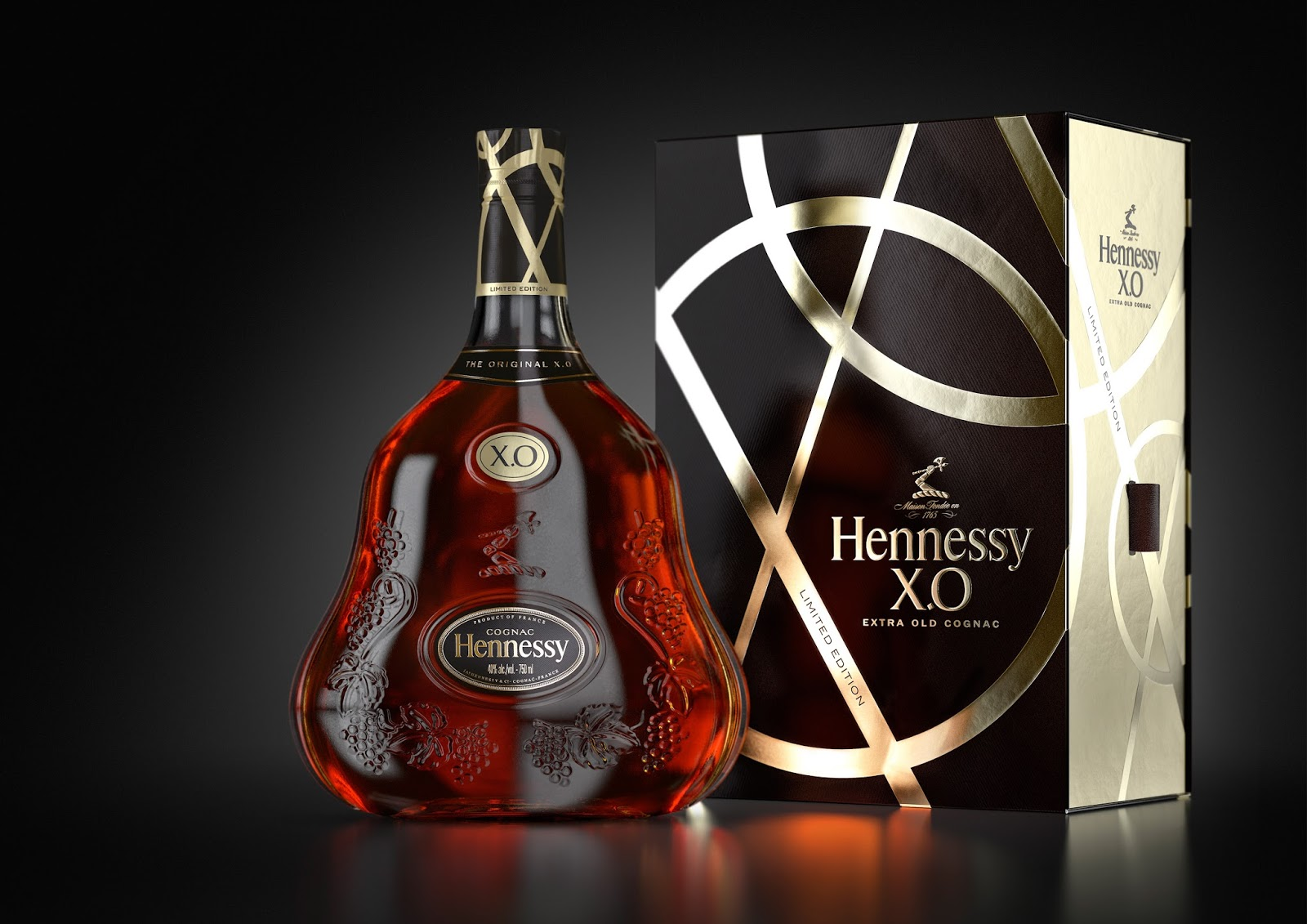 hennessy xo limited edition on packaging of the world. Black Bedroom Furniture Sets. Home Design Ideas