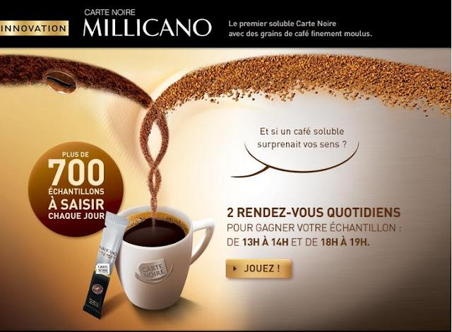 700 échantillons gratuits/jour café Millicano Carte Noire