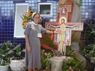 Irmãs Franciscanas do Mártir São Jorge - FSGM, Ir. Ana Maria no Encontro Franciscano em Brasília