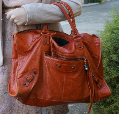 Balenciaga classic RH work in 2006 Rouille rust orange