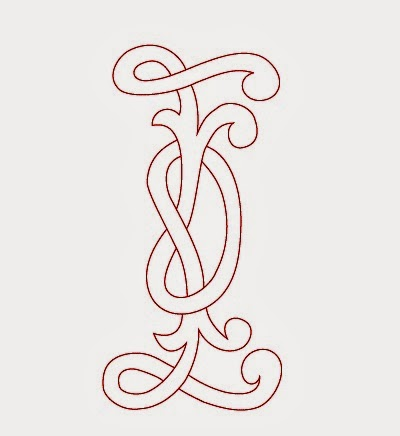 I Celtic calligraphy monogram tattoo stencil