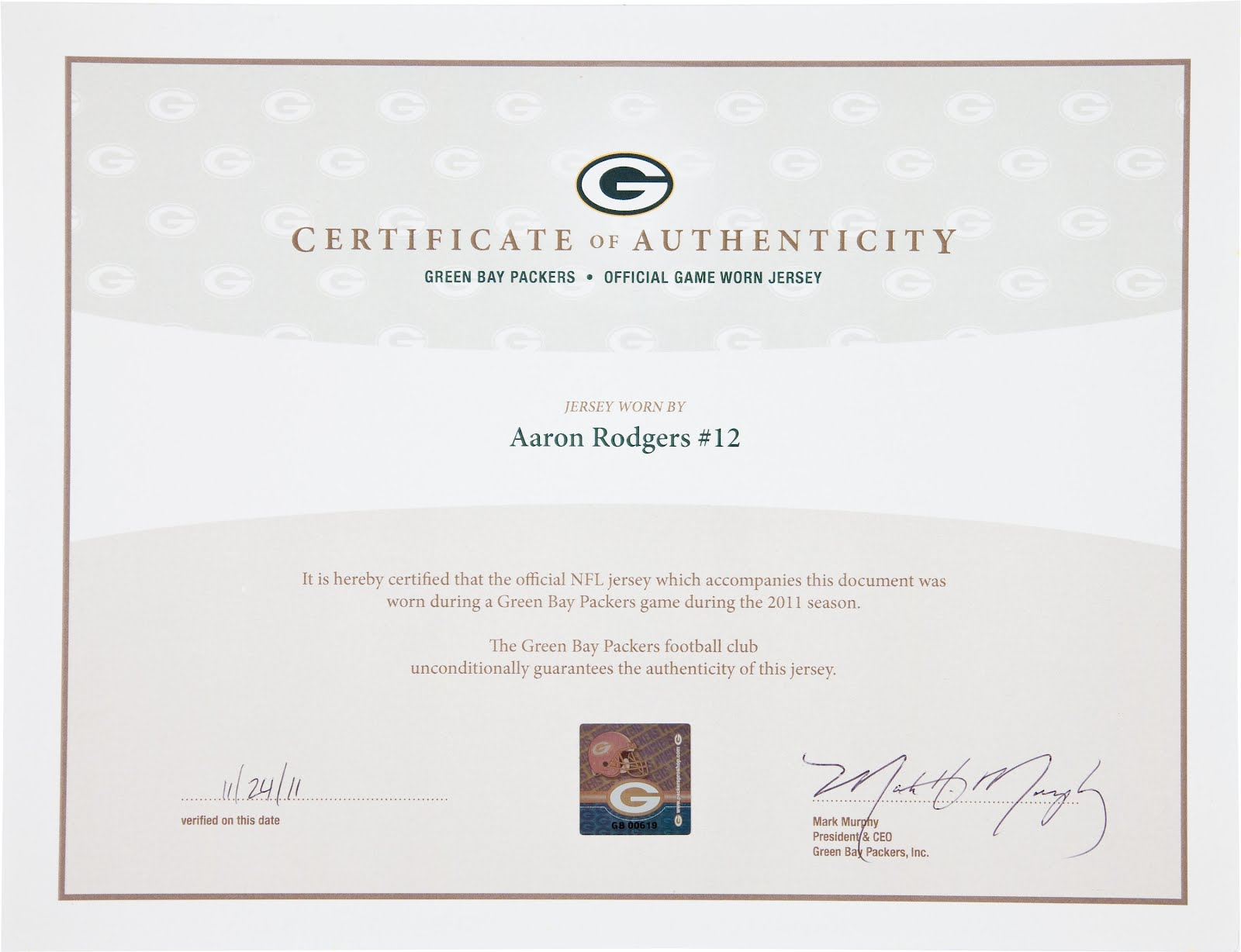 The wearing of the green and gold auction gold aaron rodgers i would have expected the two to be identical to tie the coa conclusively to the jersey has anyone bought a game worn item from the packers 1betcityfo Images