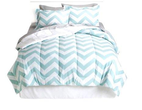 Mint Green Colored Bedding: ZigZag Chevron Comforter U0026 Sheet Set