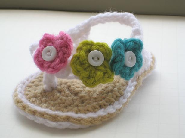 Crochet Flip Flops : Free Pattern Crochet Baby Flip Flop Sandals