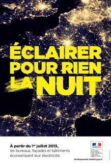 """Energie et developpement - campagne de sensibilisation contre l'éclairage nocturne """"éclairer pour rien nuit"""""""
