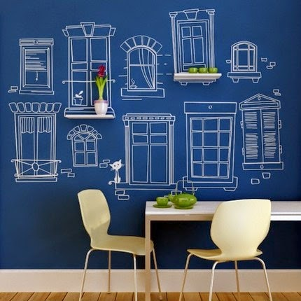 Decoración Low Cost: Coge un rotulador y a decorar la pared