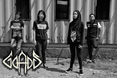 GOADS Band Grindcore Female Fronted Jakarta - Indonesia Vokalis / gitaris cewek logo artwork