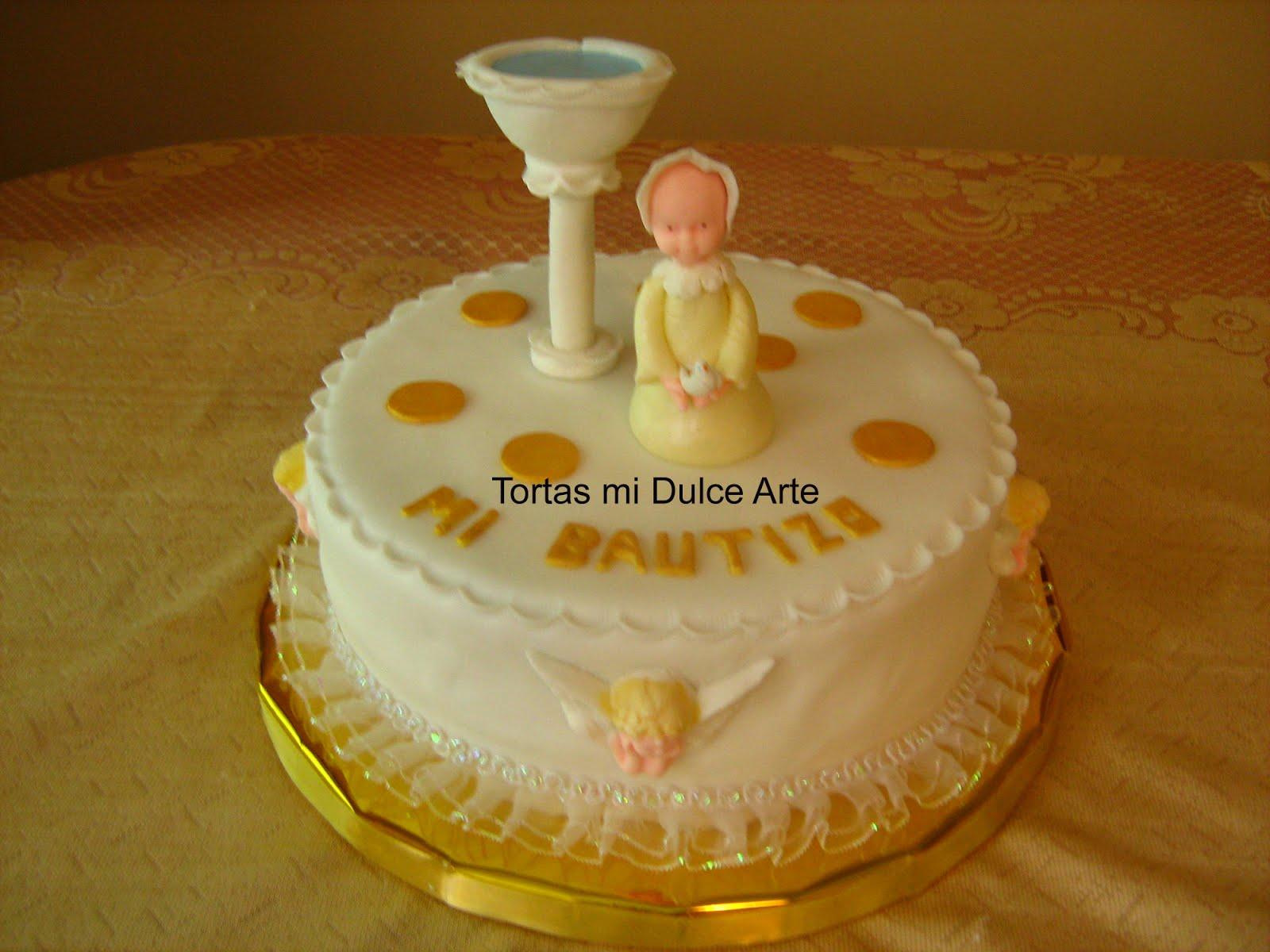 Torta de Bebita Para esta tortita de bautizo la adorne de manera