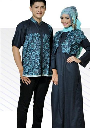 21 Model Baju Muslim Batik Sarimbit Keluarga Modern