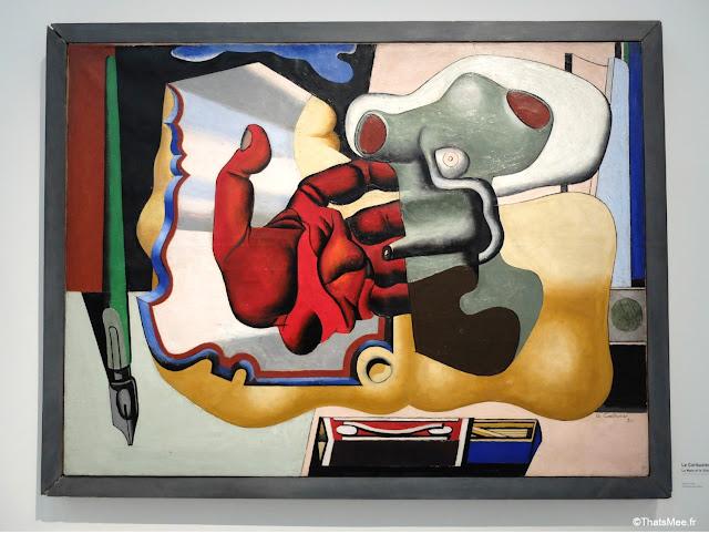 La Main et le Silex, Ou La Main Rouge Peinture by Le Corbusier 1930