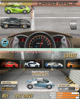 Free High Rated Drag Racing Game: Android's Interface