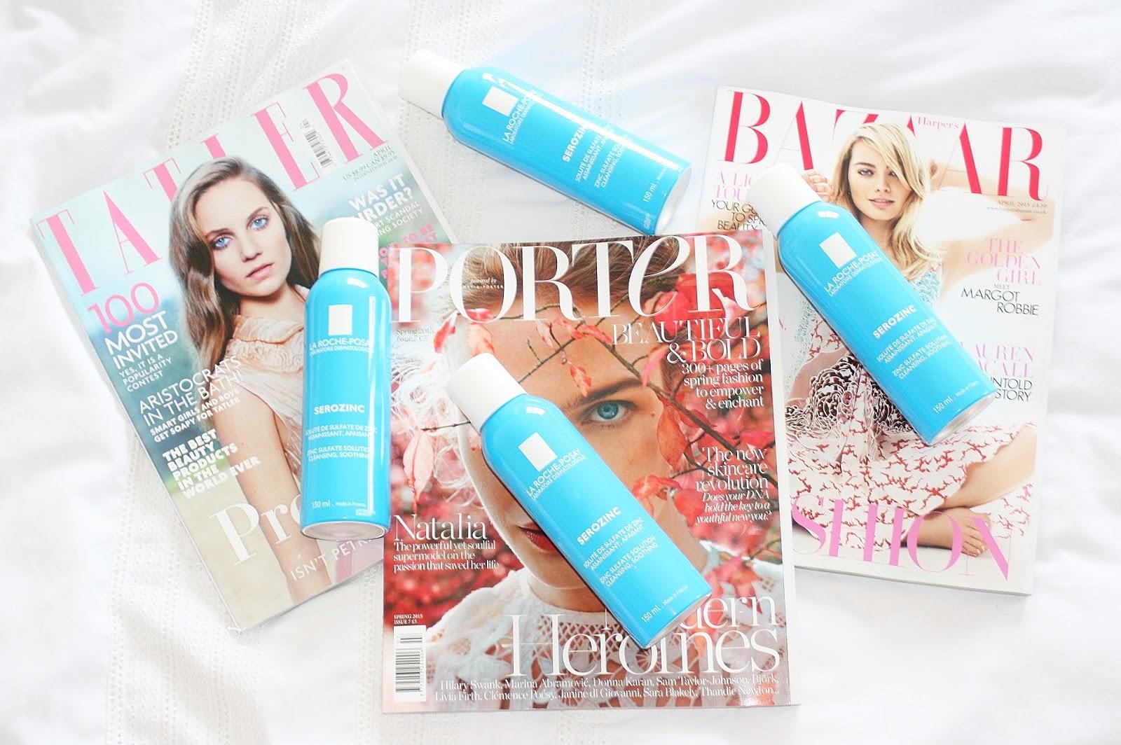 Katherine Penney Chic Beauty Skincare La Roche Posay Serozinc Toner Magazines Paris