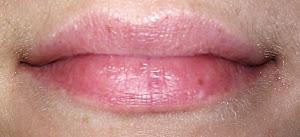 Ungeschminkte Lippen