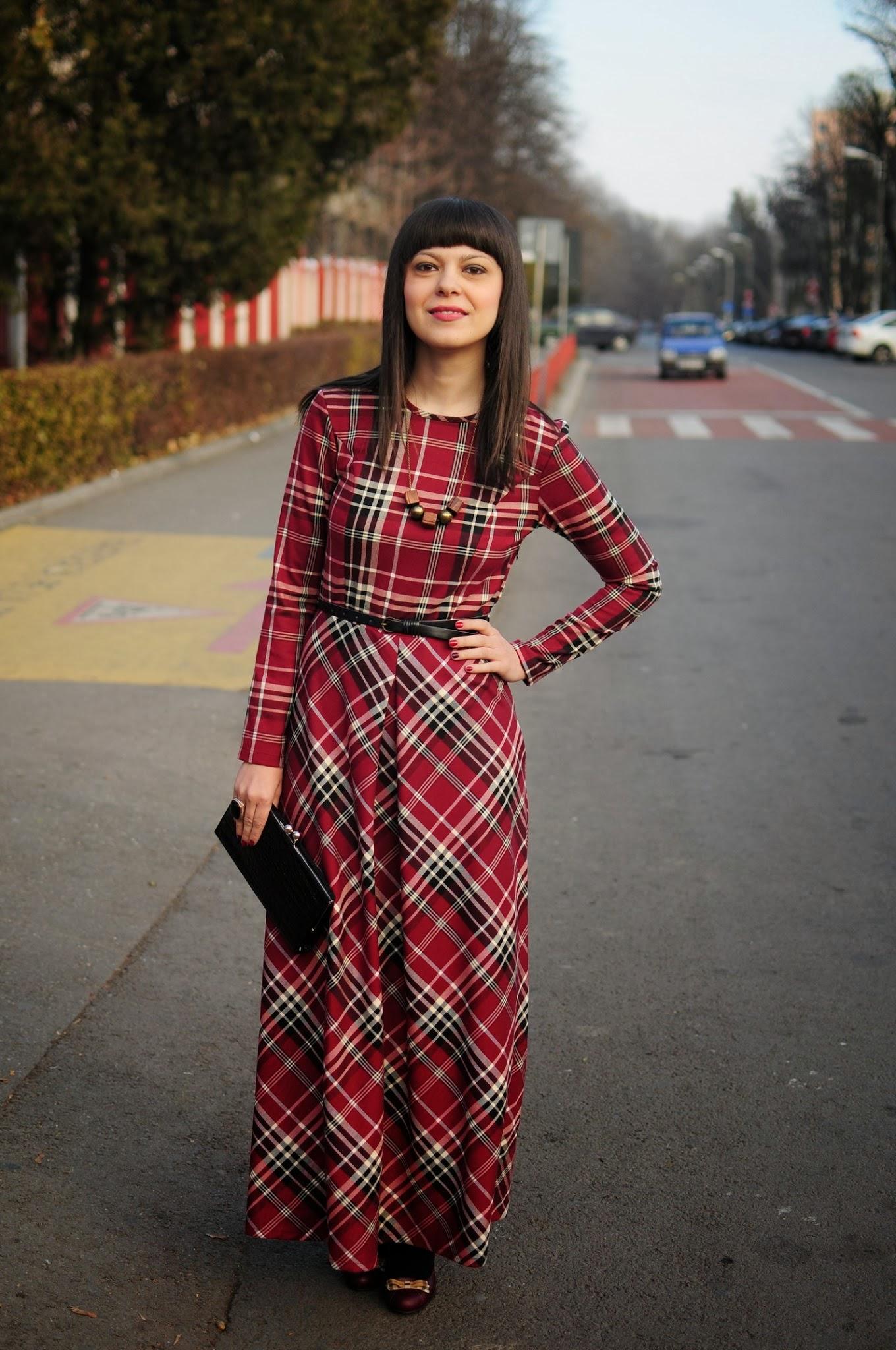 long plaid dress for christmas - Plaid Christmas Dress