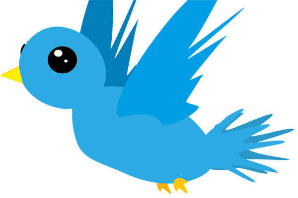 add animated flying twitter bird to blogger
