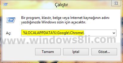 Windows 8 Çalıştır