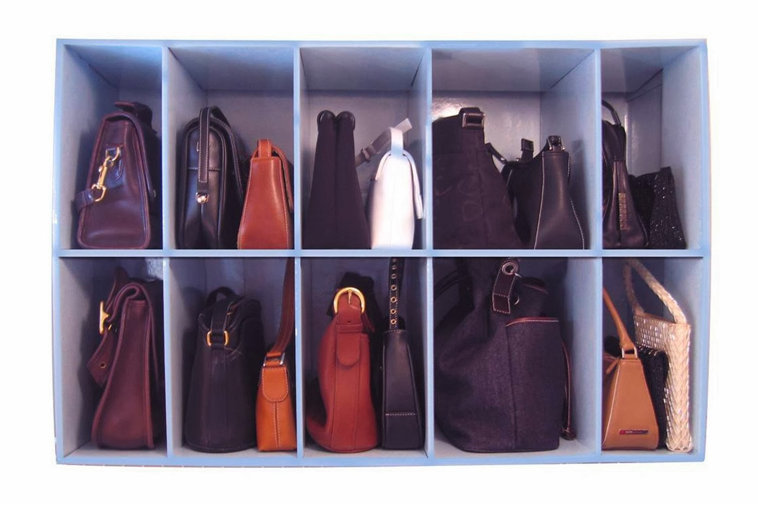 11 ways to organize your purse organizing made fun 11 - Closet organizer for purses ...