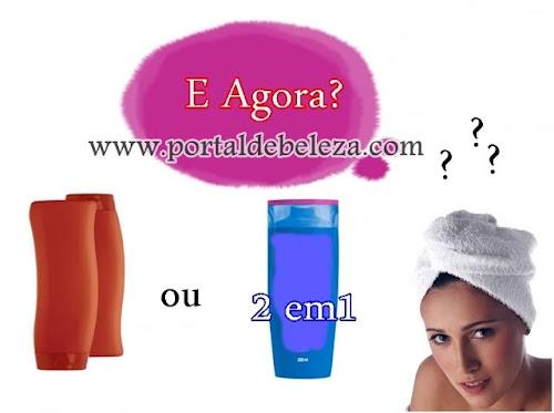 Produtos de Beleza:Shampoo para cabelos oleosos 2 em 1 resolve