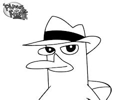 Cartoon Platypus Coloring Page