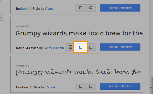 「Quick-use」をクリック