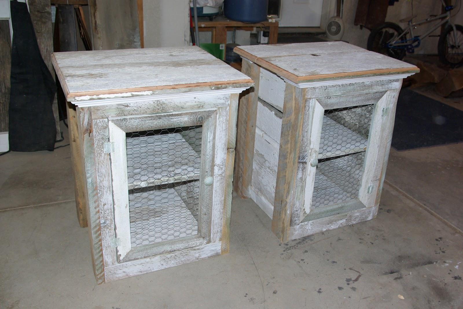 Reclaimed rustics rustic nightstands for Tall rustic nightstands