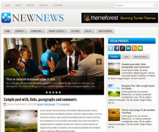New News - Free News Blogger Template