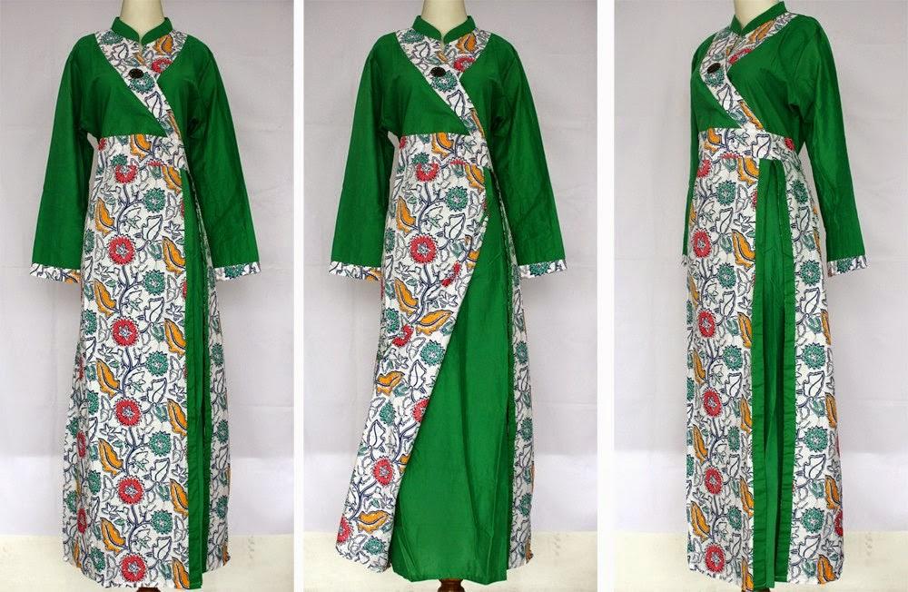 11 Model Baju Gamis Batik Kombinasi Yang Lagi Trend Contoh Model