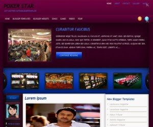 Poker Star Blogger Template