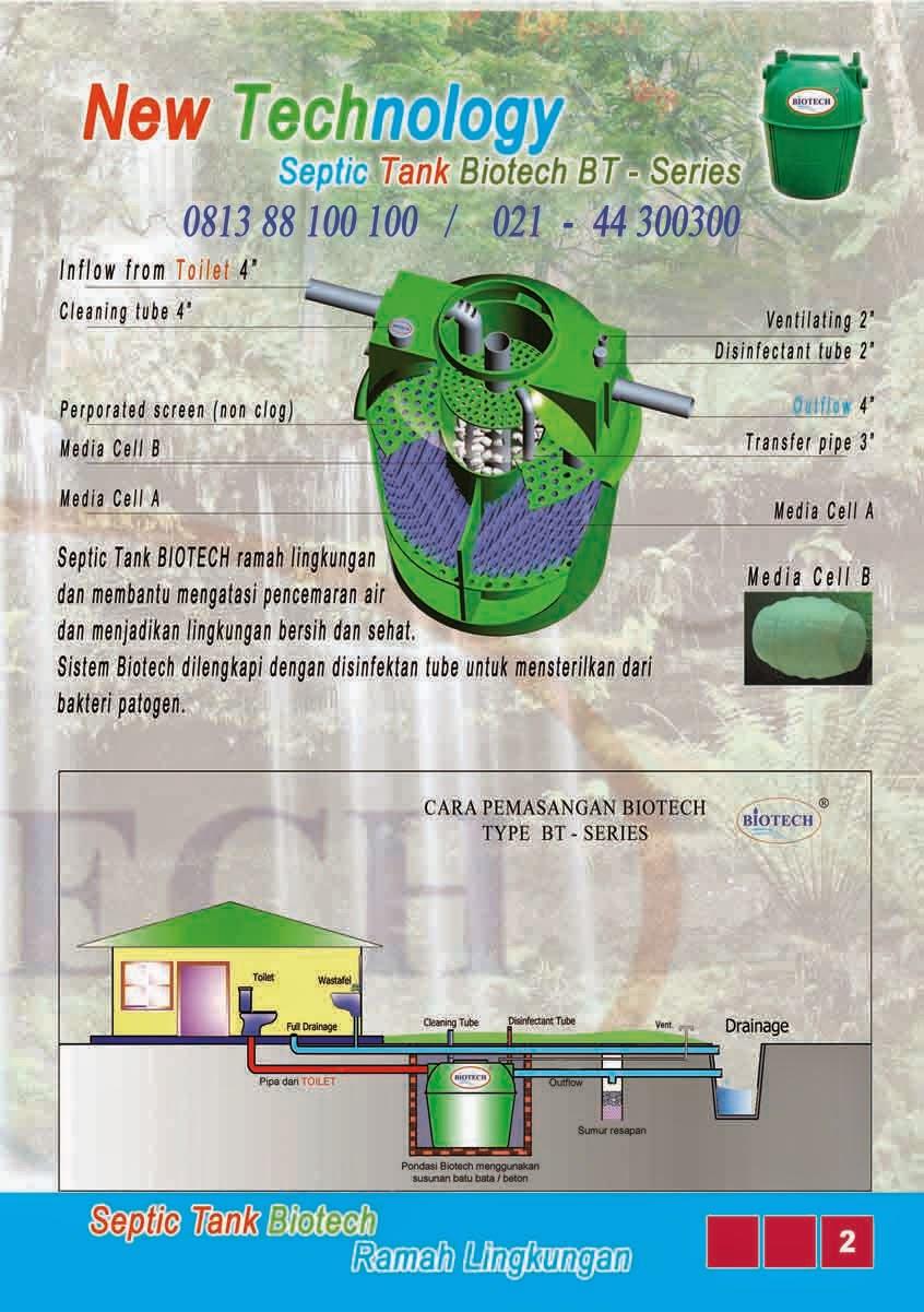 brosur septic tank biotech, katalog, ipal, stp, biofil, biogift, biofive, induro, cara pemasangan