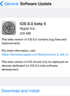 iOS 8 Beta 5 Apple