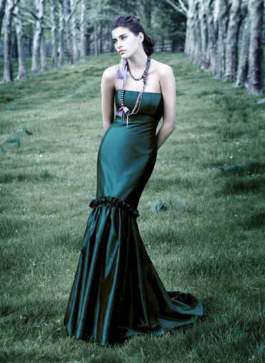 Your wishes granted for Emerald green wedding dress