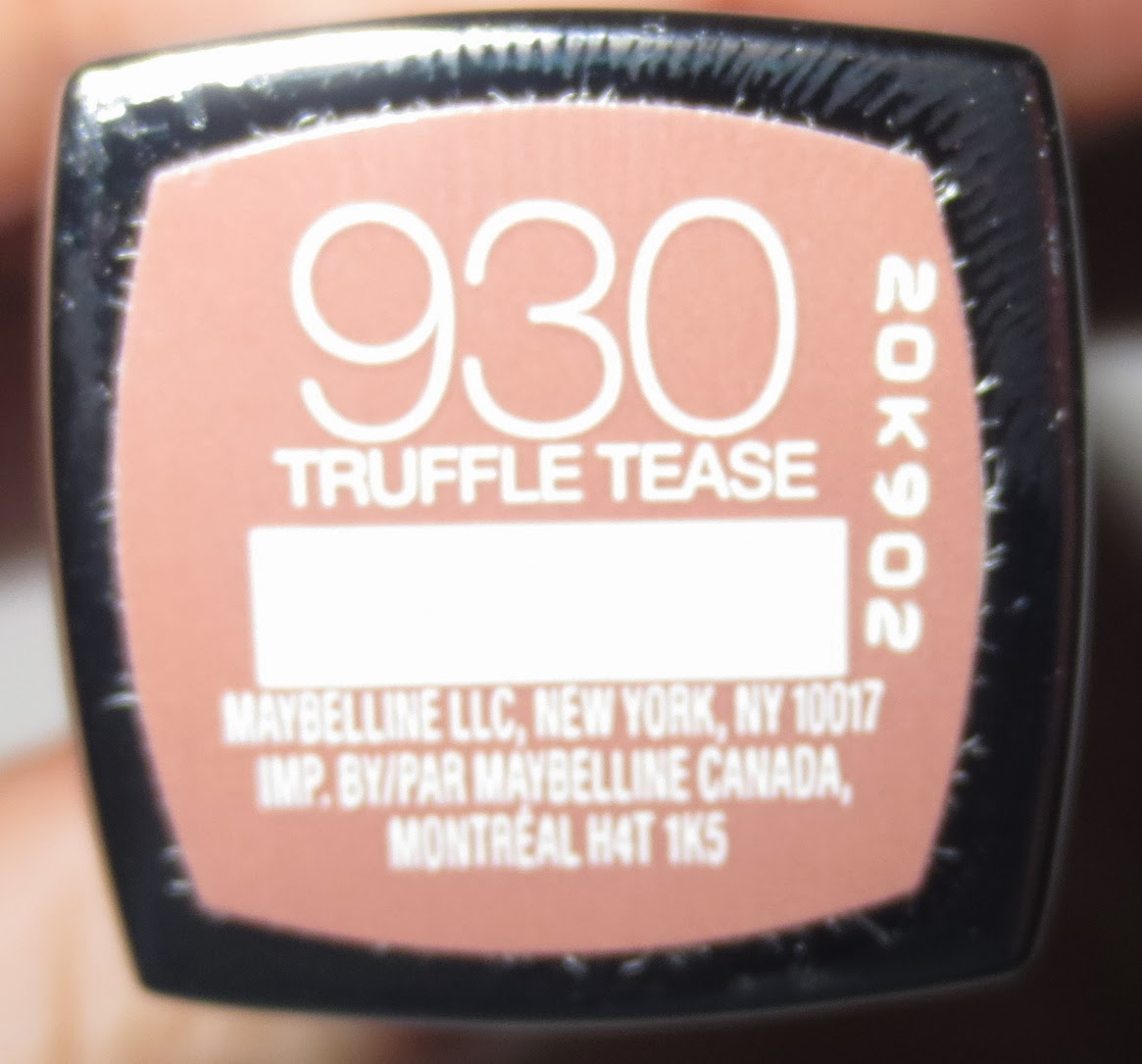 Maybelline Color Sensational The Buffs in Truffle Tease Label