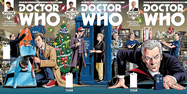 Doctor Who: The Tenth Doctor #5, Doctor Who: The Eleventh Doctor #5, and Doctor Who: The Twelfth Doctor #3