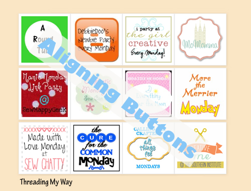 Keep the buttons on your blog neat and tidy by learning how to keep them aligned... TUTORIAL ~ Threading My Way
