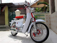 Gambar motor honda C70 modifikasi