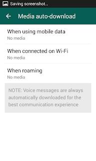 Whatsapp media auto download options