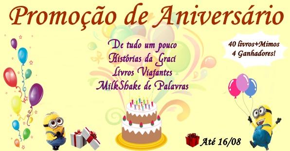 Promoção De Aniversário De Blogs Amigos