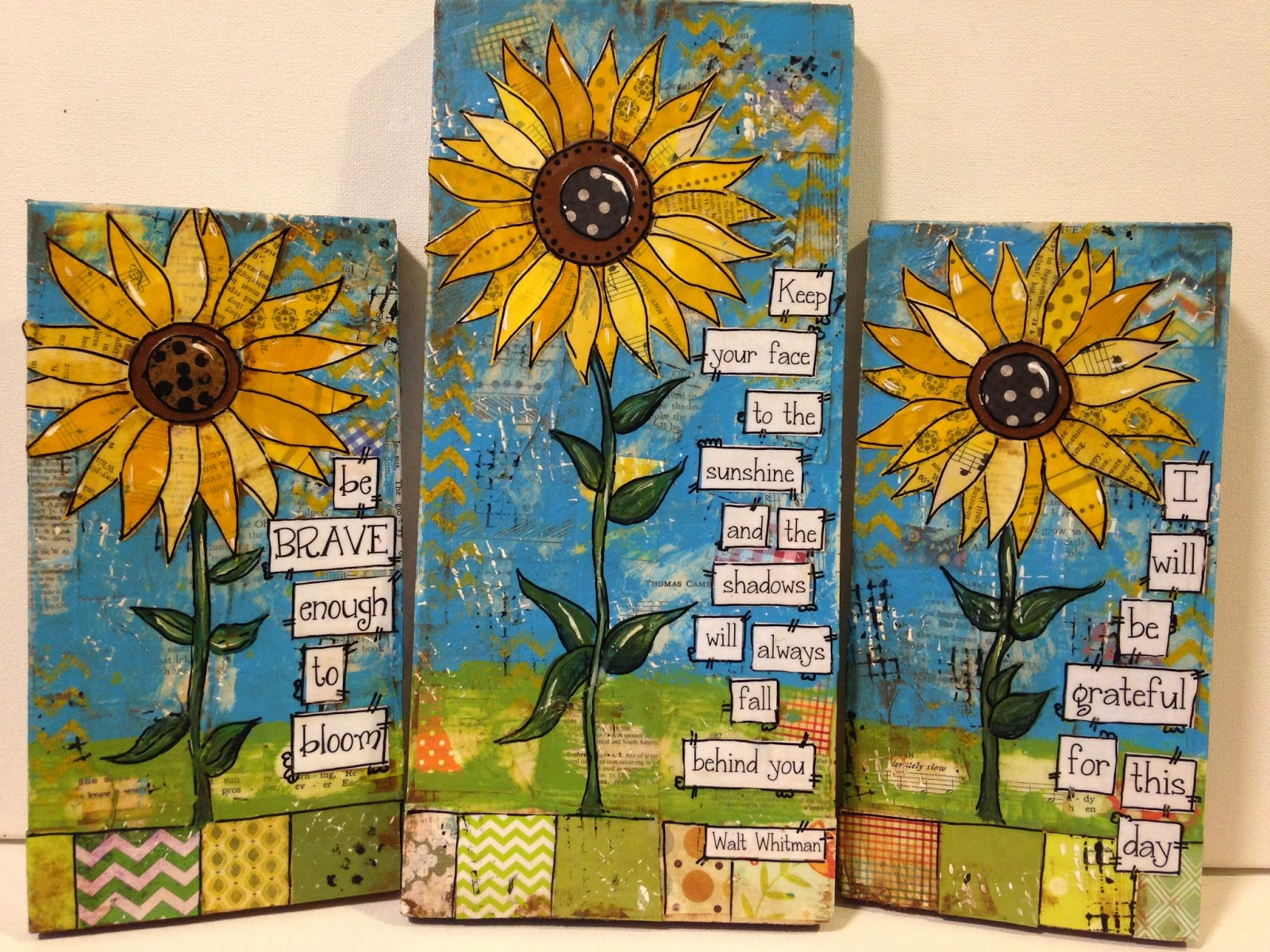 sunflower sign, sunflower, sunflowers, mixed media sunflowers, painted canvas, fall