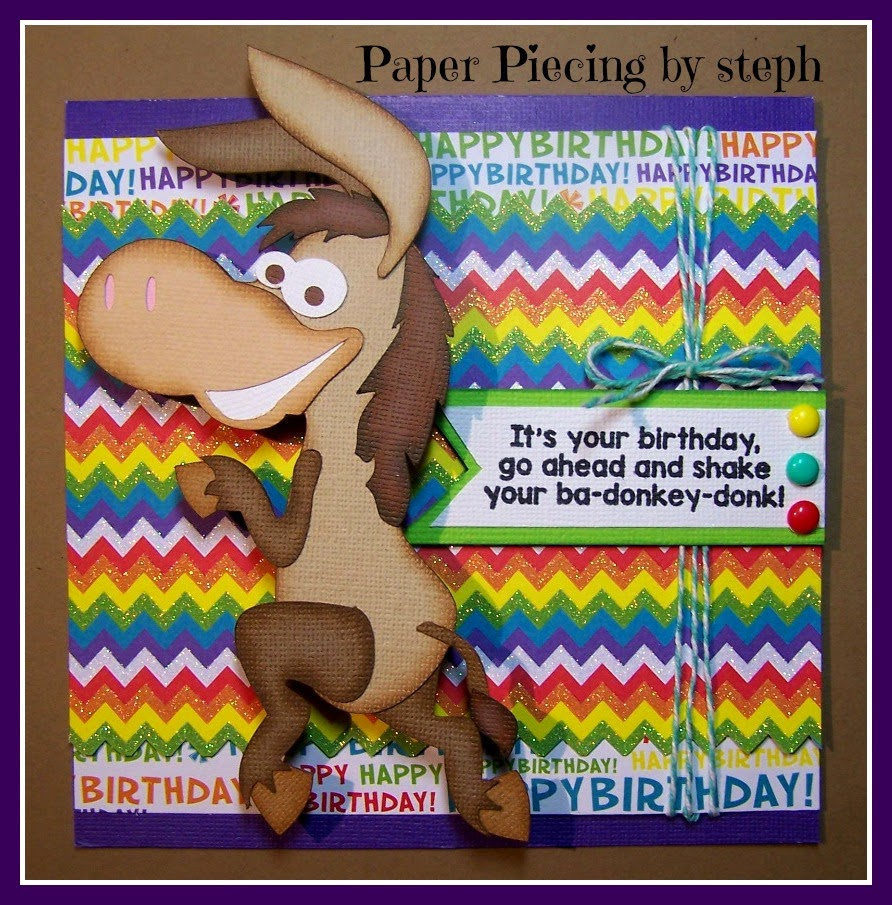 I Have To Share This Funny Card Made Using SVG Cutting Files Ba Donkey Donk And Jaded Blossoms Party Animal Stamp Set