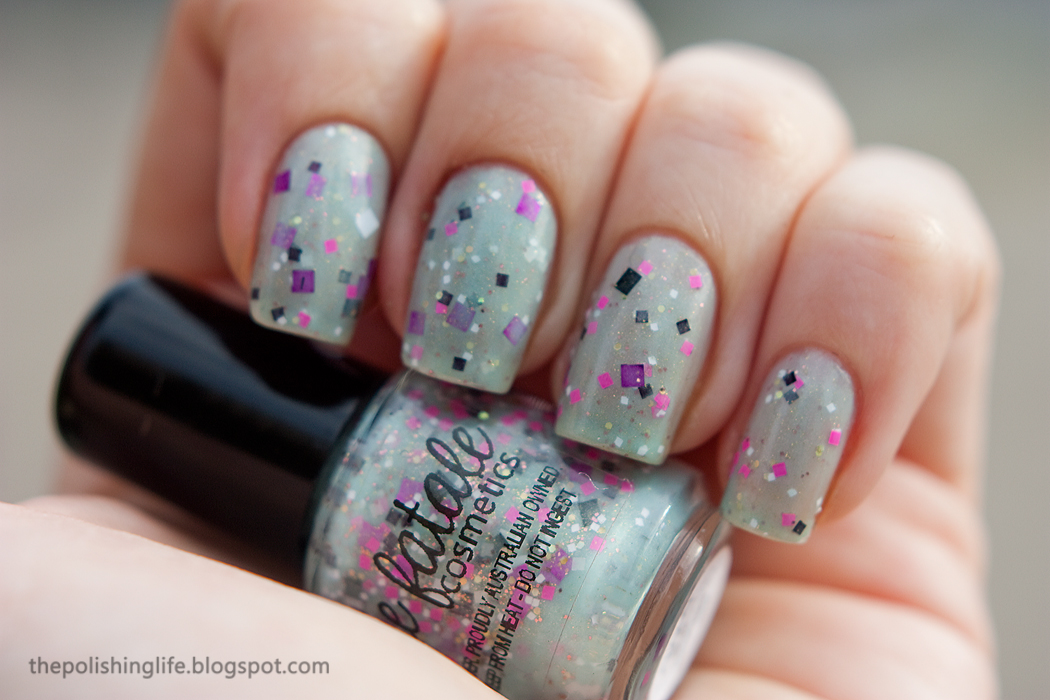 Femme Fatale Cloudburst swatches and review