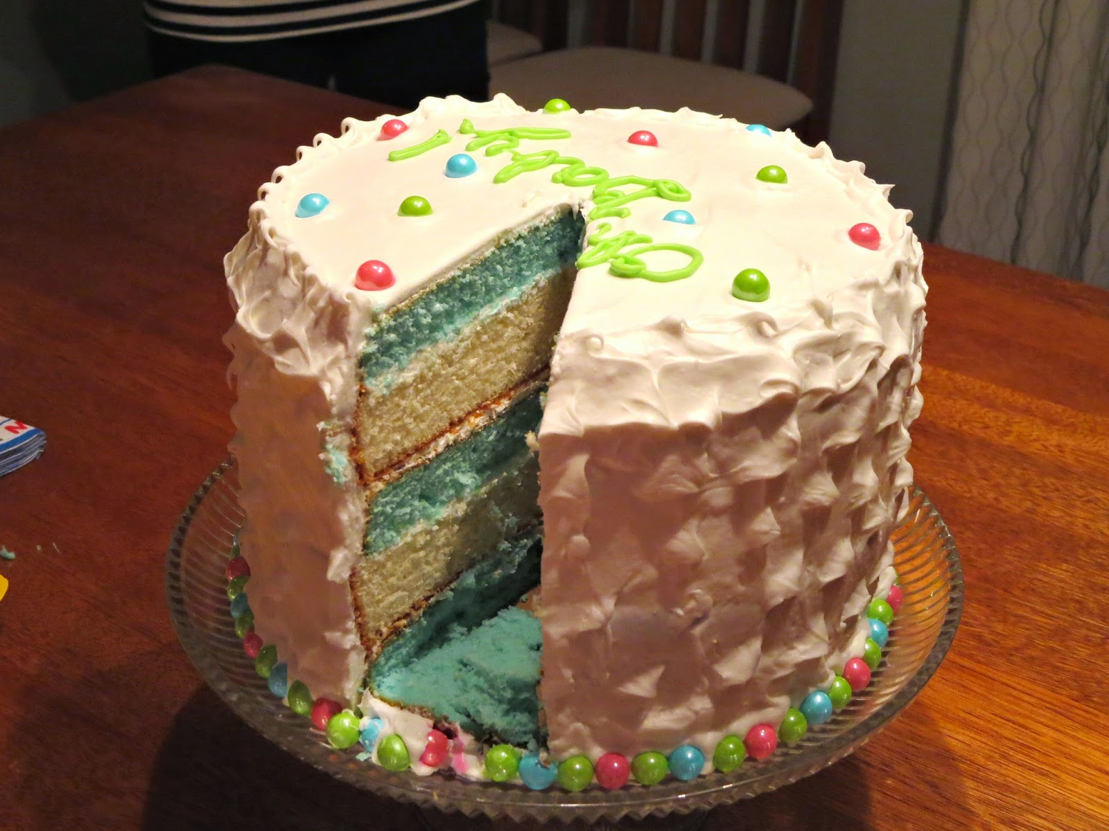 Baby Gender Reveal Cake - Inside of Cake - It's a BOY 1