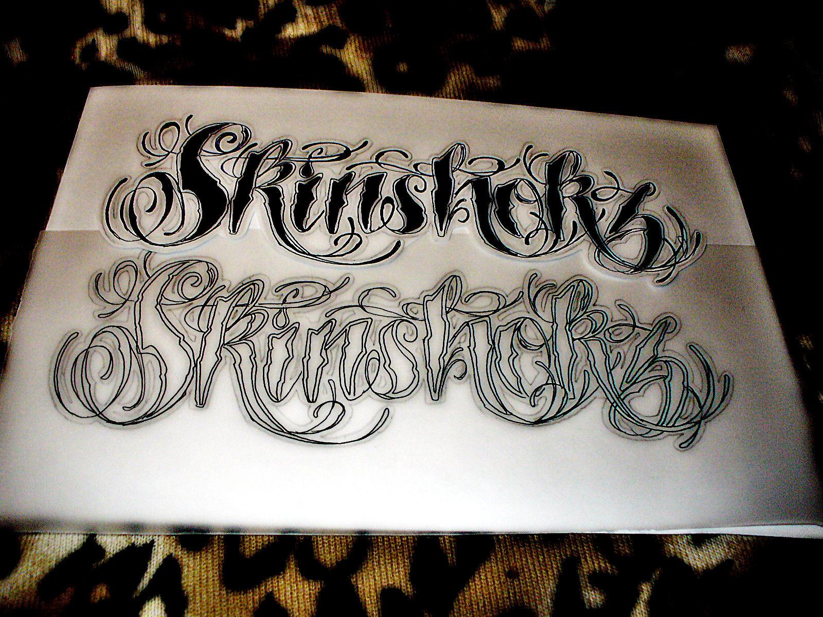 Lizvengeance art skinshokz tattoo script Script art