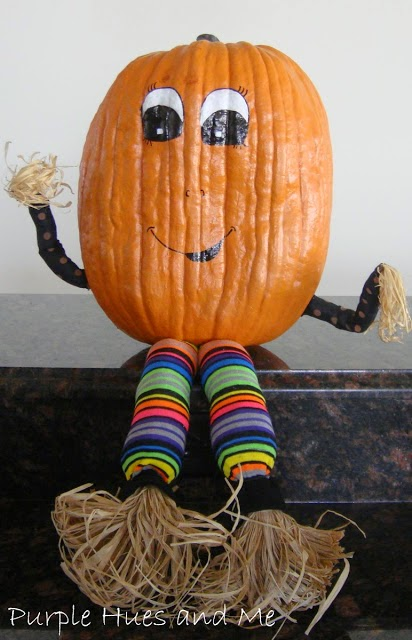 a whimsical pumpkin figure